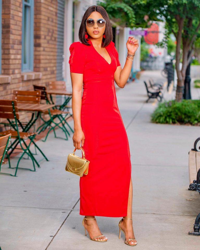 Red Fay Velvet Maxi Dress For Fall Winter Spring Summer
