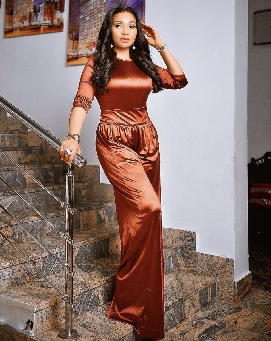 burnt orange satin jumpsuit stylerave