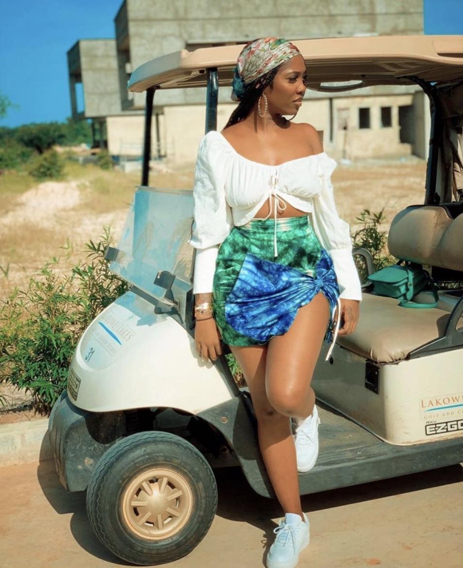 Tiwa Savage adire cloth mini skirts stylerave