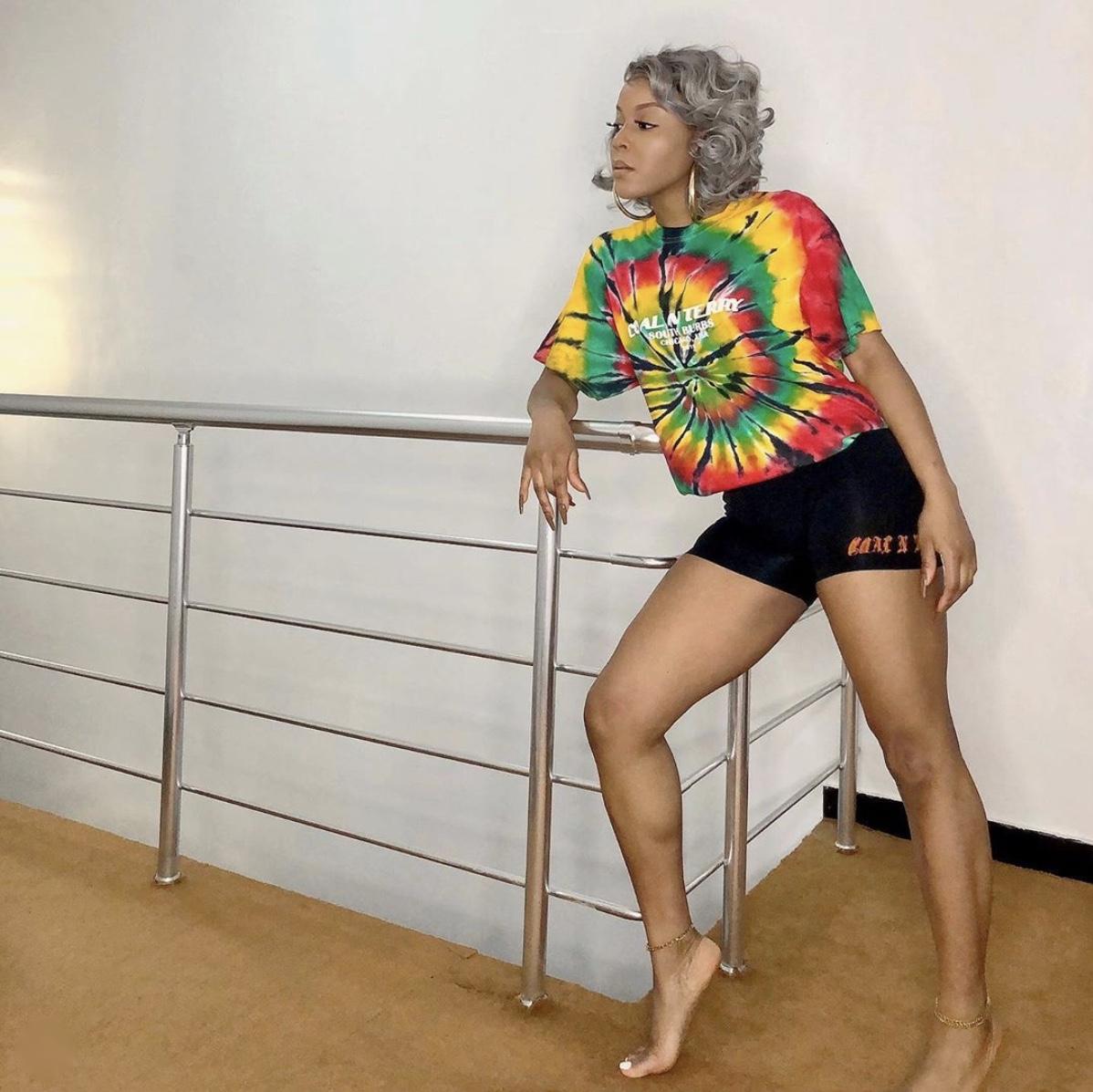 Lola OJ tie and dye oversized t-shirt stylerave