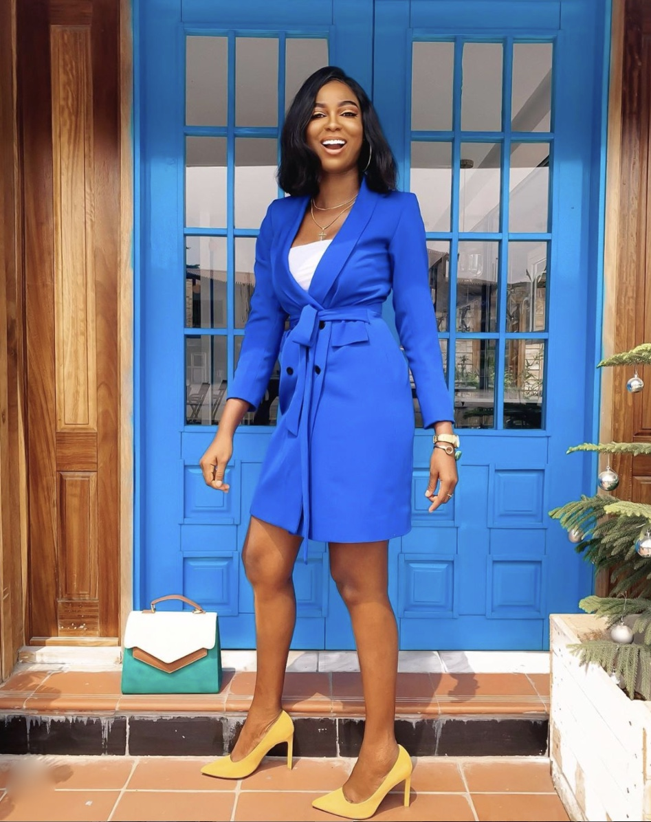 royal blue blazer dress stylerave