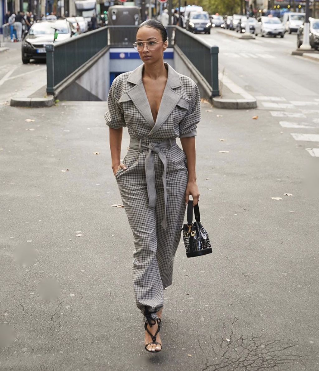 Draya Michele ankle tie jumpsuit latest fashion trends stylerave
