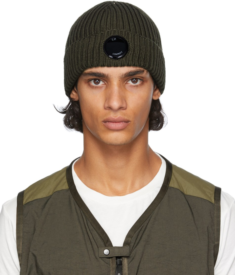 cool-beanies-for-men-cp-company-green-lens-beanie