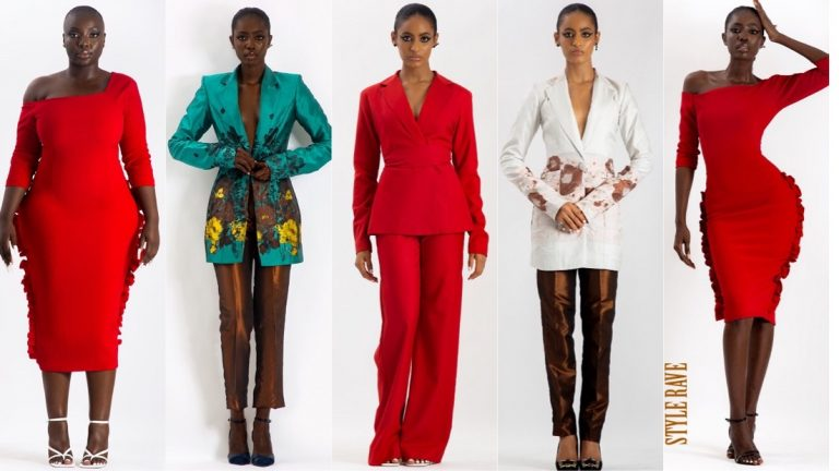 Hertunba, a Lagos-based sustainable fashion brand delivering classy, ready-to-wear clothes for ambitious women released their Action Lady collection over the weekend. The brand which was launched by Florentina Agu launched its first collection via Instagram Live––keeping up with the times. [wp_ad_camp_2] 'The Hertunba woman is a strong woman whose confidence, style, and charisma challenge the status quo.' The Action Lady collection is a body of art inspired by the lifestyle of young working women who live in Lagos, Nigeria, and love fashion. It juxtaposes their love for dramatic fashion with the designer's love for modern, minimalistic artsy pieces. The Hertunba woman is a strong woman whose confidence, style, and charisma challenge the status quo. The colours in the collection, which features 18 designs, are inspired by the vibrant yet earthy colors of the city of Lagos. The Action Lady collection also features varying cuts from structured suits to flowing lounge dresses with each piece delicately hand made and with its own unique story. Hertunba - Action Lady Collection |Lookbook   Creative Team Photography:@theginstarp Skin:@themakeupspotafrica Stylist:@bosedeikujuni Muses:@jazzyogaga, @funmiakinjiola, @djtgarbs, @xterberry Hair:@haircentricsalon_spa Makeup:@beautybybold Creative direction:@the_florentyna PR:@morsipr See more and shop the pieces on www.hertunba.com. Designs by Florentina Agu. For the latest in fashion, lifestyle and culture, follow us on Instagram @StyleRave_ fashion influencer Instagram post-florentina-agu