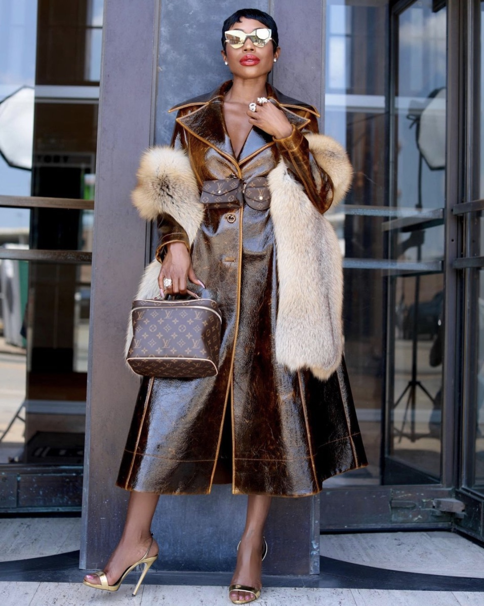 brown leather coat fur winter fashion trends stylerave
