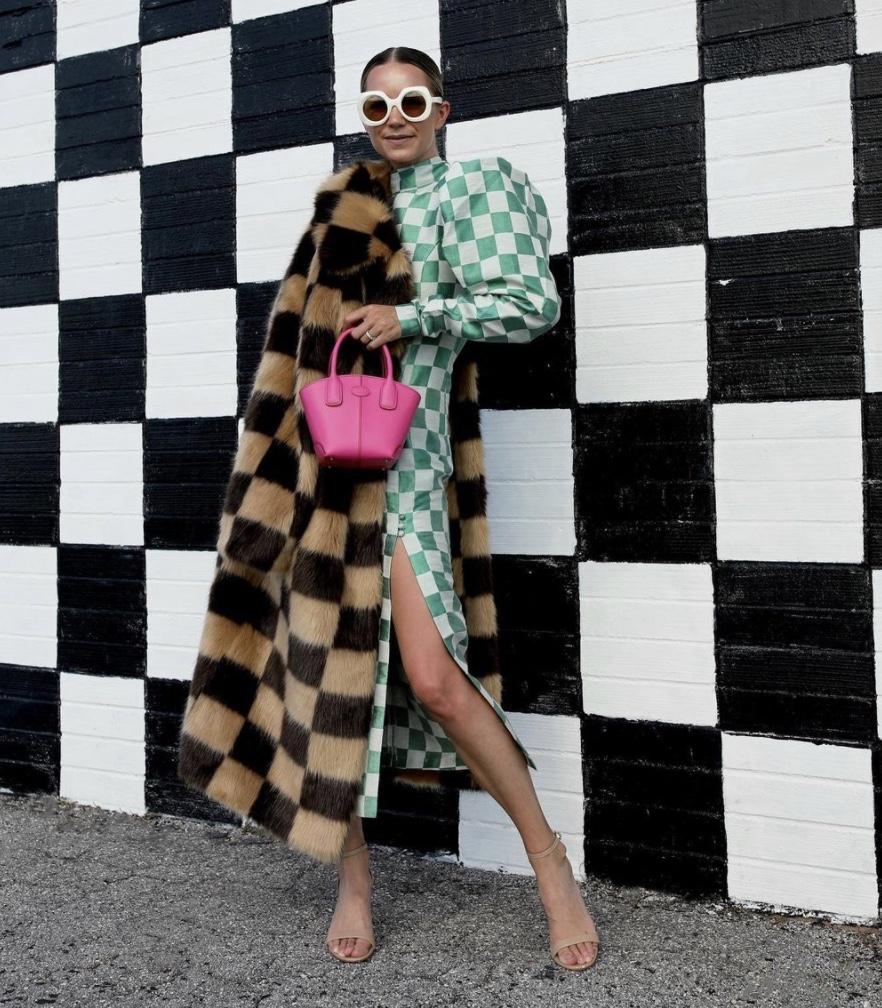 green bold check prints winter fashion 2020 stylerave