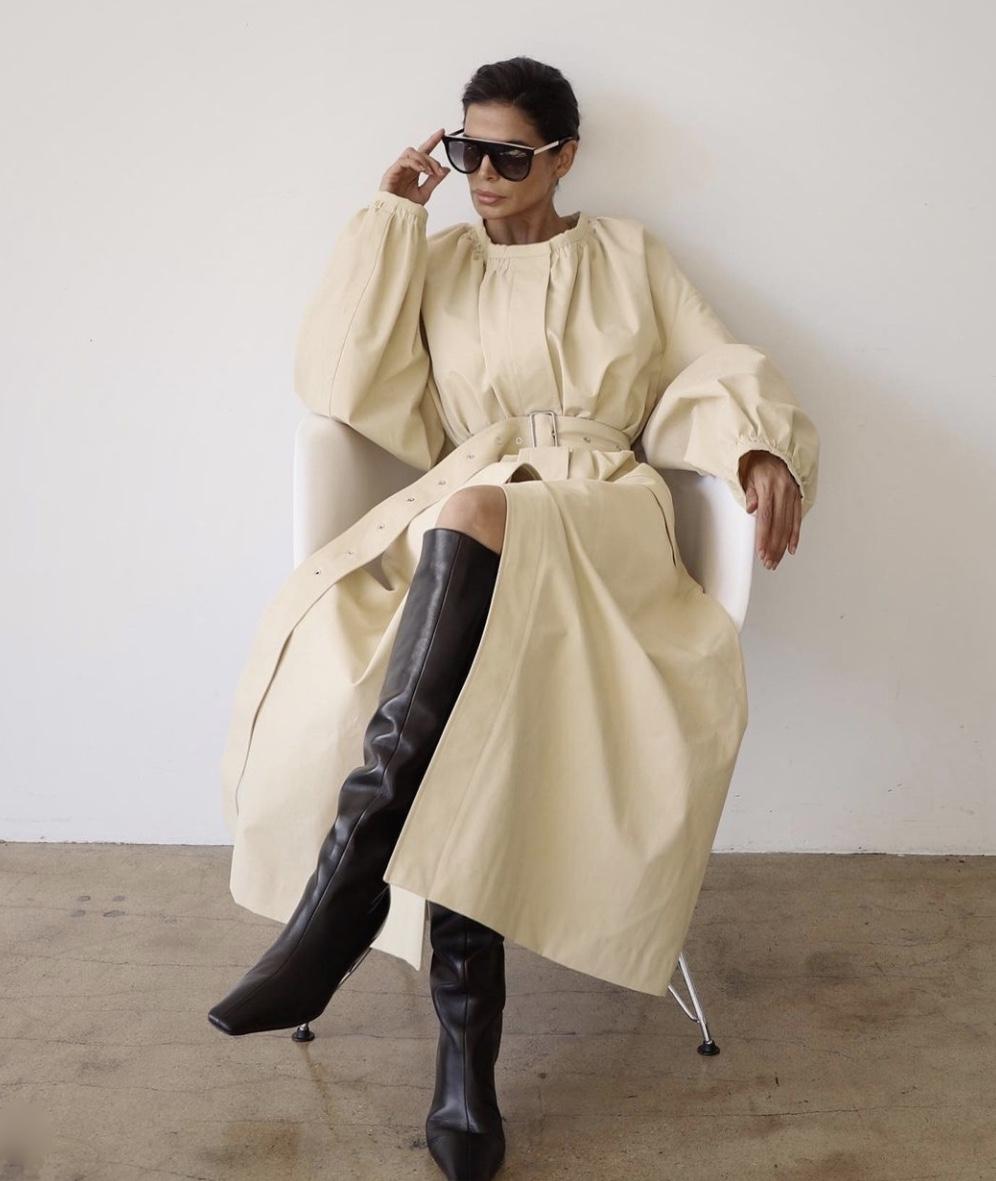 yellow balloon sleeves maxi dress winter fashion stylerave