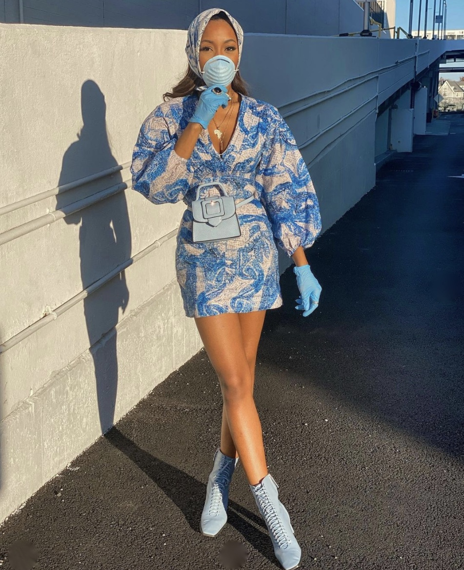 blue lace boots puff sleeves dress stylerave