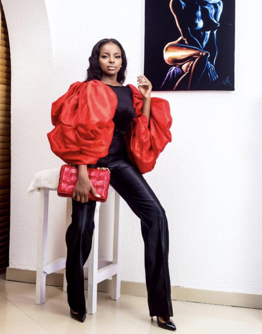 Wathoni Anyansi black and red jumpsuits stylerave