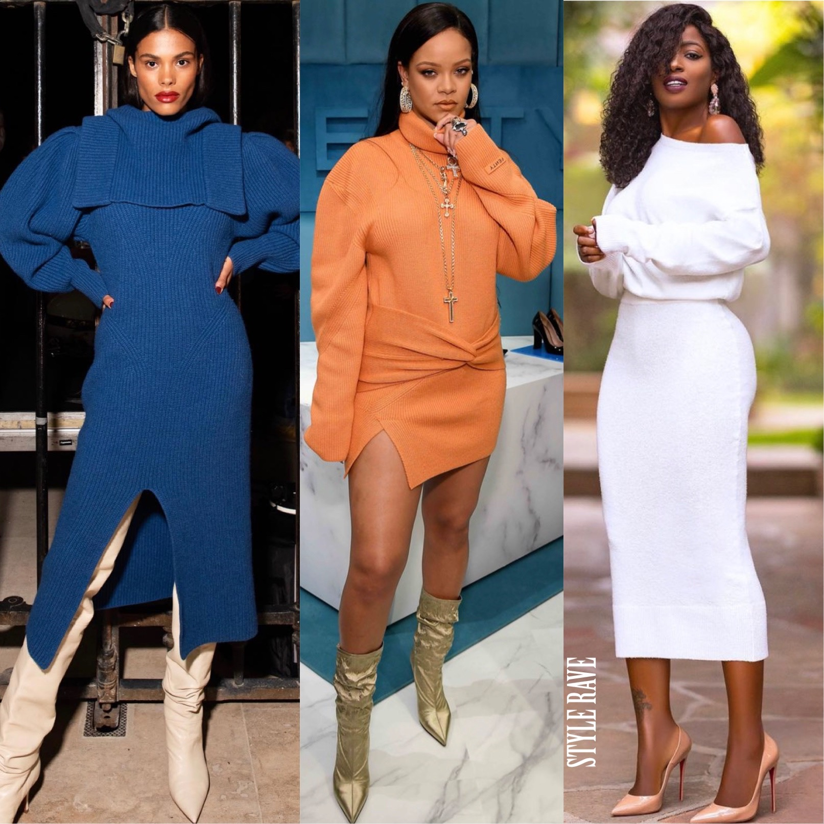 how-to-wear-sweater-dresses-style-knit-dress