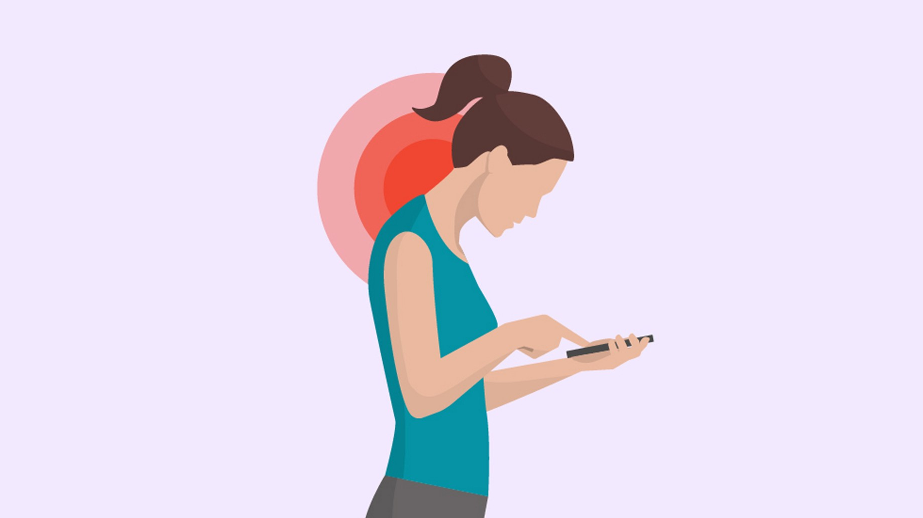 Tech neck bad posture causes and solution