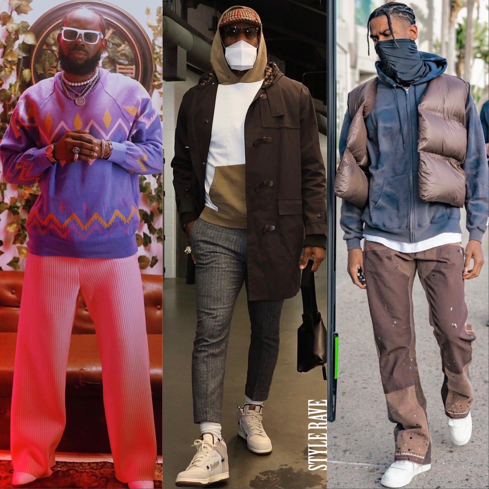 three-black-male-celebrities-wearing-latest-fashion-style-in-2021