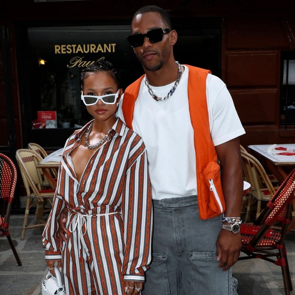 Karrueche Tran And Victor Cruz Couple Style Goal