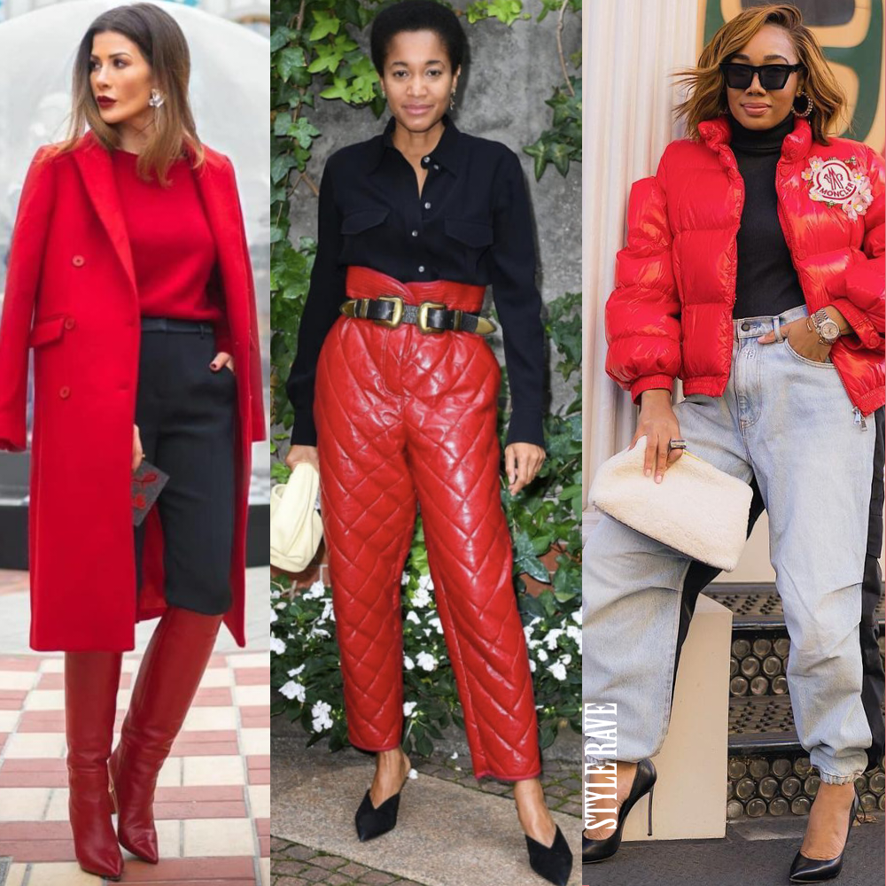 how to style wear red outfits to pair with in 2021 winter style