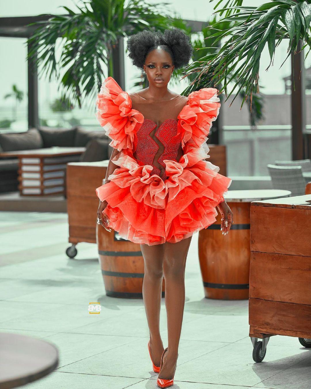 Nollywood actress Beverly osu dress
