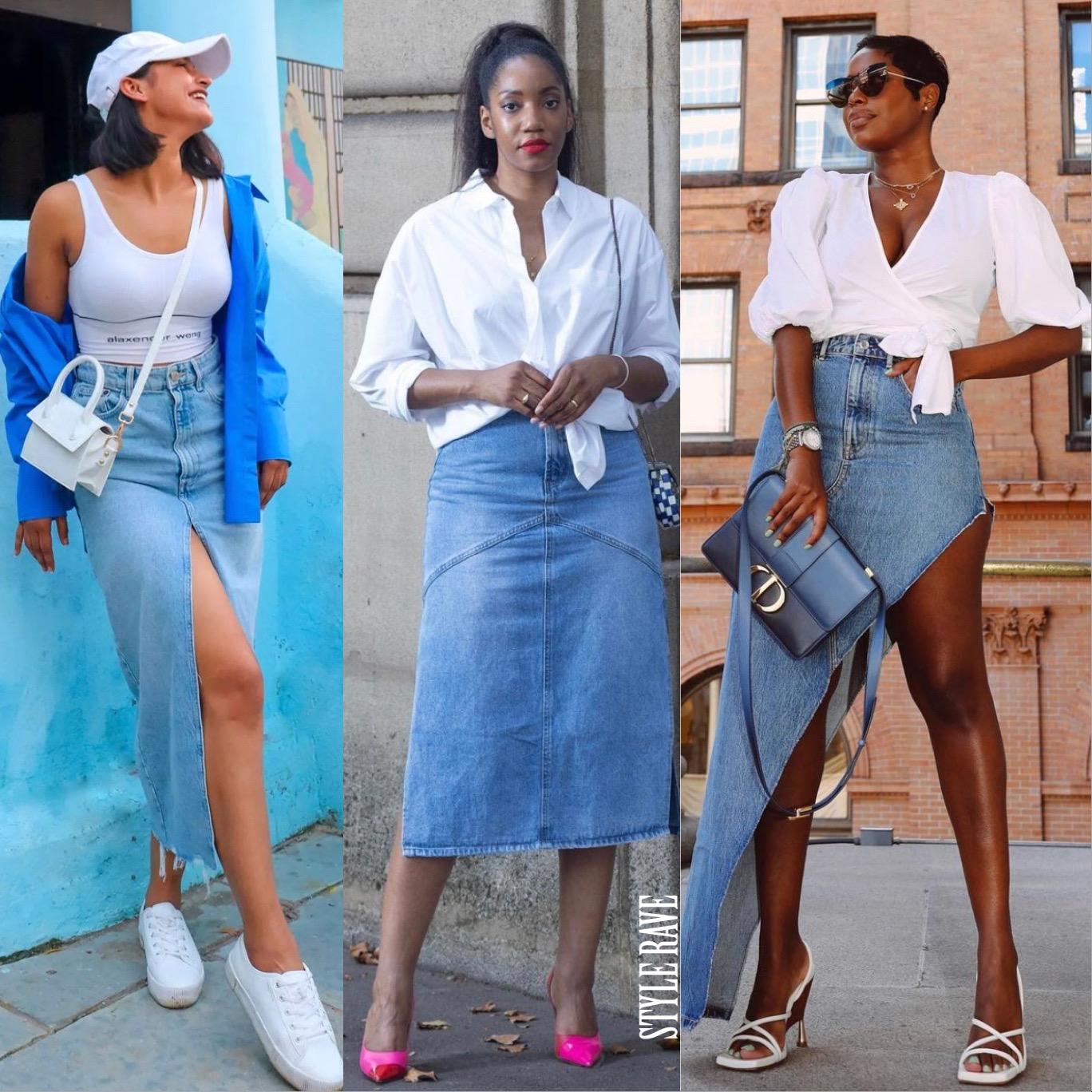 3-black-women-influencers-show-denim-skirts-for-women