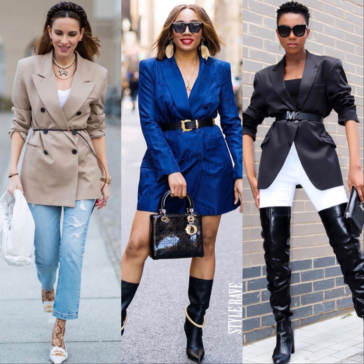 3 black women show how to wear belted blazers